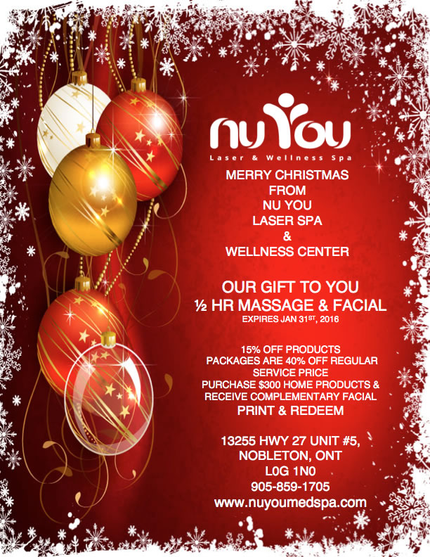 Nobleton laser hair removal botox massage skin for Beauty salon xmas offers
